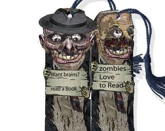 halloween printable Zombie bookmarks instant download DIY craft supply for Halloween