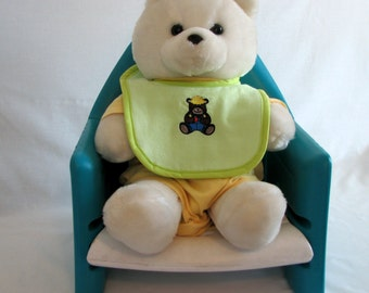 Bibs -  Country Bear- embroidered - boys - flannel