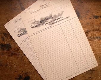 Set of 10 Vintage Tannery Receipts from the 1900's - Unused Ephemera