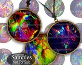 Opal Art Digital Paper Circles for Decoupage DIY Magnets Jewelry Pendants Printable Download Paper Bottlecaps 1 One Inch inchies 676