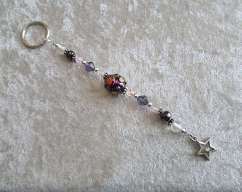 Star Key Ring with Dichronic Glass Beads