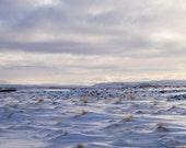 Snowy Field; original fine art photography, EKremenak