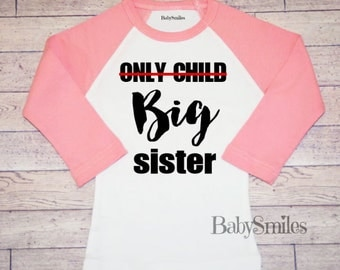 Big Sister Shirt Big Sis Sister to be Personalized Shirt Sibling Shirt Baby Announcement Shirt Pregnancy Announcement Hipster Shirt 600