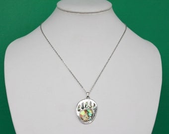 Beautiful Abalone Foot Pendant Necklace