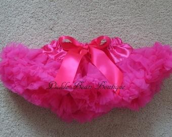 Hot Pink Tutu - 0-9 mo - Ready To Ship - Hot Pink Pettiskirt - Baby Petti Skirt - Newborn Tutus - Baby Tutu