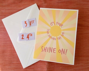 It's Your...Time around the Sun birthday card