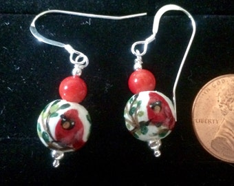 Cardinal Earrings - Sterling