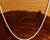 "24"" Solid Sterling Silver Diamond Cut Rope Chain 2 mm wide"