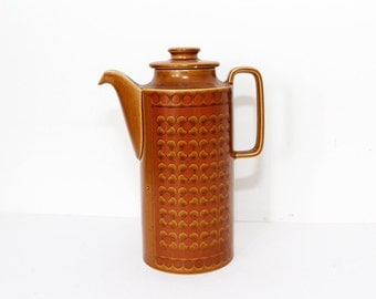 Vintage 1970s Hornsea Coffee Pot - Saffron Design