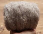 Storm Cloud Grey Needle Felting Wool, Wool Batting, Batts, Wet Felting, Spinning, Dyed Felting Wool, Gray, Medium Gray, Fiber Art Supplies