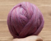 Aster Wool Roving for Needle Felting, Wet Felting, Spinning, Dyed Felting Wool, Lilac, Purple, Fiber Art Supplies