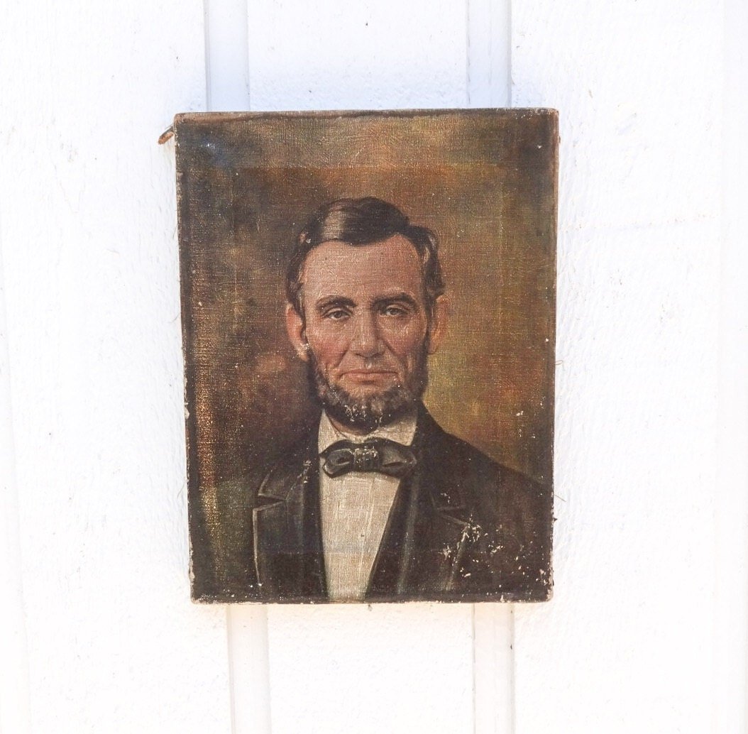 Reserved for Fern President Abraham Lincoln Portrait Print on
