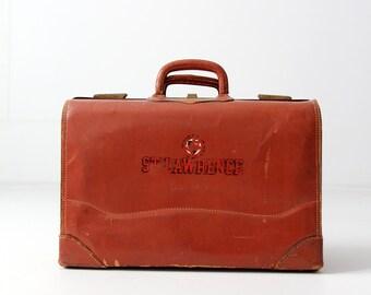 vintage 40s St. Lawrence University suitcase