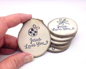 10 Party Favors || Reclaimed Branch Table Markers || Woodland Decor || Arts Crafts || Vacation Bible School