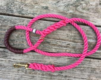 "Nautical Dog Leashes - the Fair Lead ""Classic"" (Pink)"