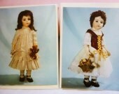 Victorian Bisque Doll vintage Note Cards 2