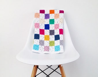 Crochet Granny Square Blanket Pattern - Instant Download