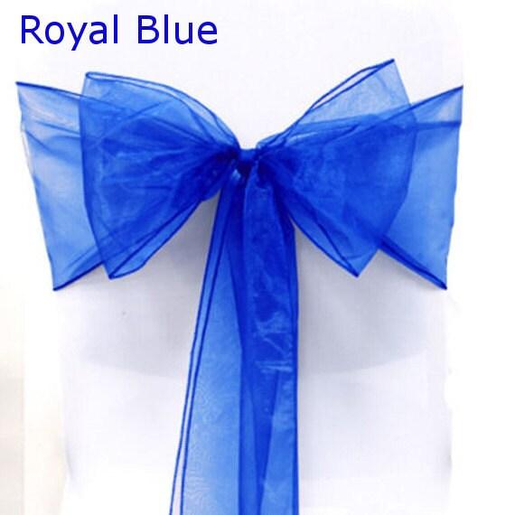 organza chair sashes 50 blue 8 x 108 wedding birthdays