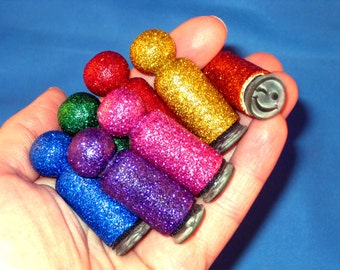 Emoji Stamp Set Smilie Rubber Stamps Rainbow Glitter Emotion Stamps in Storage Tin Kids Stamp Set for Letter Writing Camp Stationery
