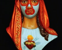 Nacho Libre. Virgin Mary wall plaque. - il_214x170.754690449_cb43