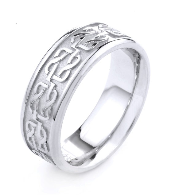 Celtic Wedding Ring Celtic Wedding BandCeltic White Gold