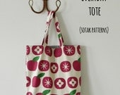 Everyday Tote bag  {PDF sewing pattern} - instant download, beginner friendly, easy to sew
