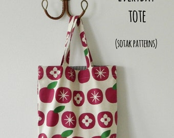 Everyday Tote Bag  {PDF sewing pattern}