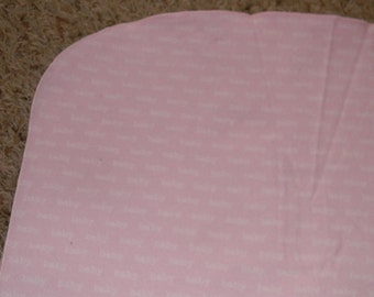 Light Pink and White Baby XL Receiving Blanket