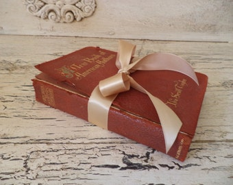 A Yearbook of American Authors - Red Leather Book - 1894 - Literary Gift Book