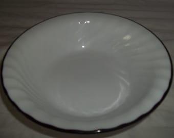 4 Corelle Enhancements Black Rimmed Cereal Bowls
