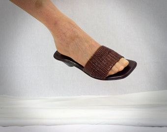 Cole Haan Sandals * Leather Sandals * Brown Sandals * Brown Woven Sandals * Summer Sandals * Size 7