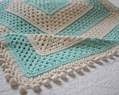100% Cotton Square Baby Afghan