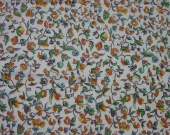 "Beautiful Vintage Cotton Fabric c.1940's 2 2/3 Yards, 38"" Wide"