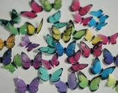 Wedding cake topper, 48 small wafer paper edible butterflies for cake decorating, waferpaper butterflies, cookies, cupcake, cake pops
