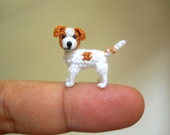 Jack Russell Terrier - Tiny Crochet Dog Stuffed Animals - Made To Order