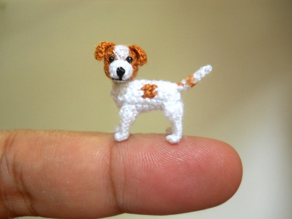 Jack Russell Terrier Tiny Crochet Dog Stuffed Animals Made
