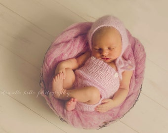 Angora Romper- Newborn Size- Photography Prop- YOU choose the color! 16 choices