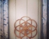 "Large 18"" Wood Flower of Life Wall Art"