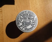 Areca Nut Toothpaste Boots Cash Chemists jar pot ceramic lid and base dresser desk box container transfer print Victorian Edwardian
