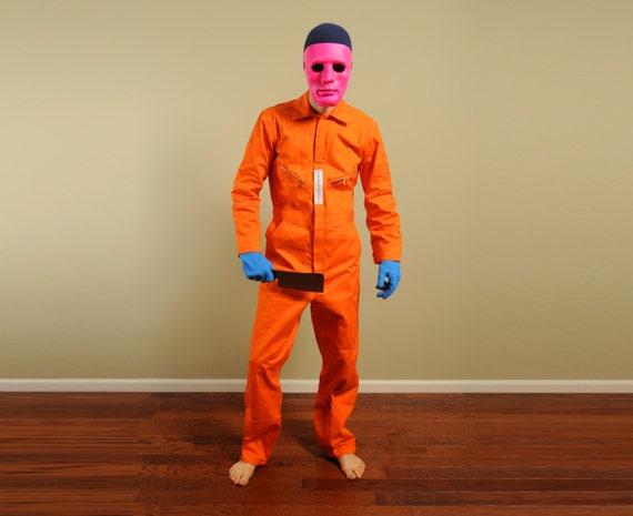 vintage orange coveralls mens vintage workwear mechanic safety