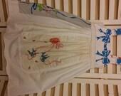 Vintage tablecloth/runner slipover dress