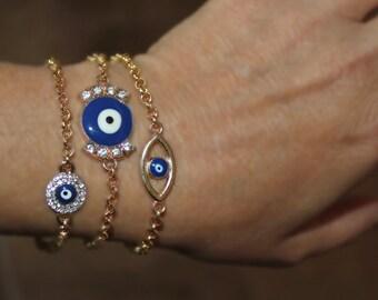 Evil eye charm bracelet, bad eye, bad eye charm, evil eye charm, Hamsa bracelet, gold evil eye, gold evil eye bracelet, gold evil eye charm