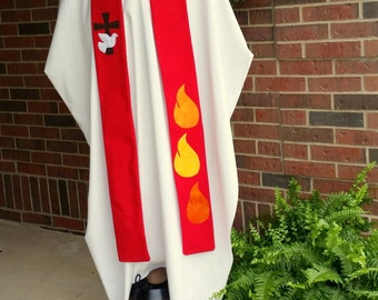 Red Ordination Clergy Stole