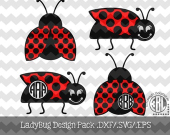 Lady Bug Design Pack Files .DXF/.SVG/.EPS Files for use with your Silhouette Studio Software