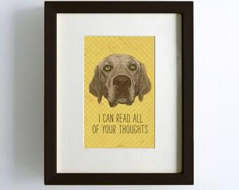 Golden Lab Dog Print