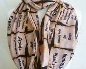 Fandom Gifts,Spells On Parchment Paper Infinity nerdy Scarves, Rooby lane