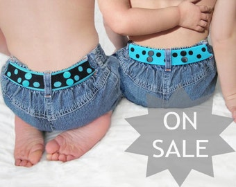 Toddler Belt Reversible - Turquoise & Black