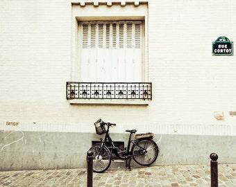 Paris photography, Bicycle photography, Paris art print, Bike print, large photography