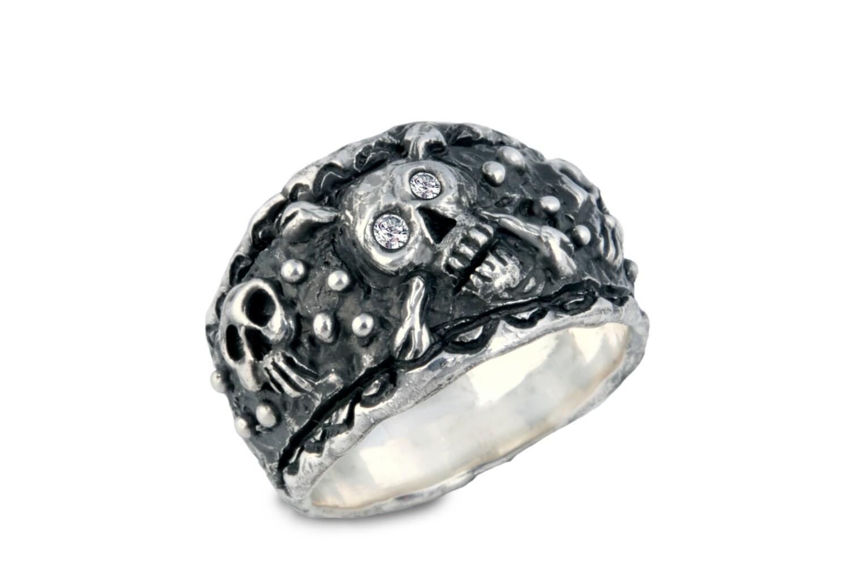 silver skull ring womens skull ringpirate ring skull and