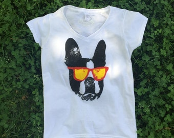 Black Sunglasses V Shirt / Available in S-M-L-XL-2XL